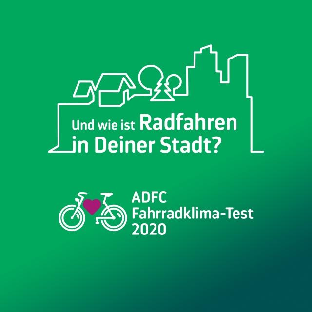 Keyvisual ADFC-Fahrrad-Klima-Test